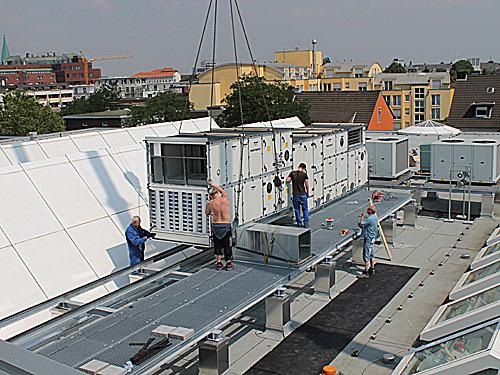 Museumssanierung 2013 2014 stadt hamm Markisen auf dach montage