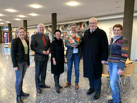 v. l. n. r.: Nicola Michels, Manfred Lindemann, Dr. Britta Obszerninks, Christoph Nietsch, Thomas Hunsteger-Petermann, Claudia Breer