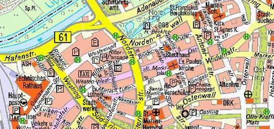 Hamm Karte.Amtlicher Stadtplan Stadt Hamm